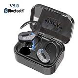【2019 Neueste】Bluetooth V5.0 Kopfhörer in Ear, TWS True Wireless Headset mit Mikrofon Stereo-Sound 35 Std Spielzeit Auto Pairing Wasserdicht Mini Sport Ohrhörer mit tragbar Ladebox für iPhone Android