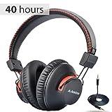 Avantree Audition 40hr aptX Wireless Wired Bluetooth Kopfhörer Over-Ear mit Mikrofon, Hi-Fi Funkkopfhörer Headset, Extra Komfortable und LEICHT, NFC, DUAL Mode - Schwarz