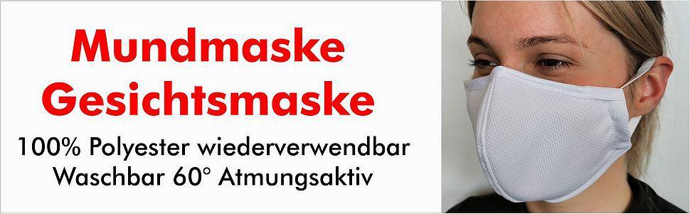 Maske Werbung