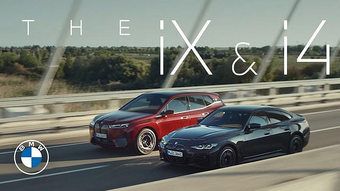 Screenshot aus der BMW iX i4 Werbung