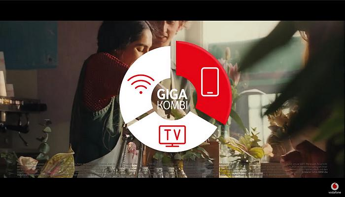 Screenshot aus der Vodafone Gigakombi Werbung